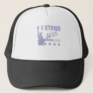 Pro immigration statue of liberty shirt trucker hat
