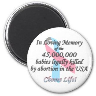 Pro Life, Abortion Statistics Magnet