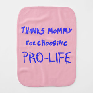 Pro-life Baby Burp Cloths
