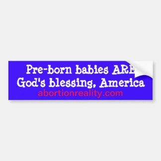 pro-life blessing bumper sticker