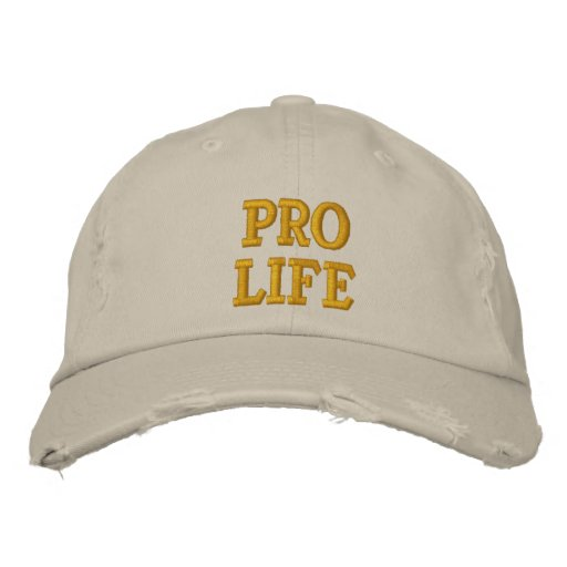 Pro Life Embroidered Baseball Cap