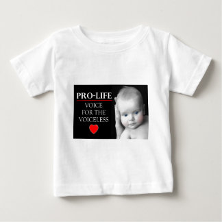 Pro-Life Voice for the Voiceless Baby T-Shirt