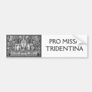PRO MISSA TRIDENTINA AUTOCOLLANT DE VOITURE