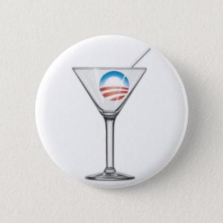 Pro-Obama Martini 2 Inch Round Button