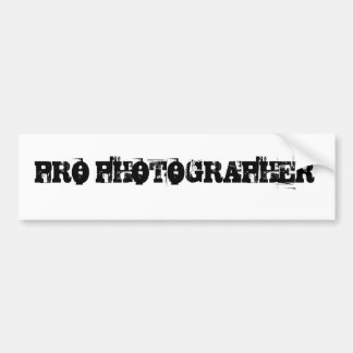 PRO PHOTOGRAPHER Bumper Sticker