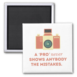 'Pro' Photographs Square Magnet
