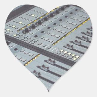 Pro Studio Music Studio Console Music Audio Studio Heart Sticker