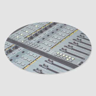 Pro Studio Music Studio Console Music Audio Studio Oval Sticker