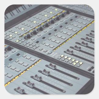 Pro Studio Music Studio Console Music Audio Studio Square Sticker