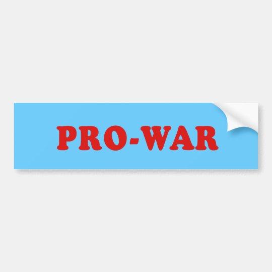 Pro War Bumper Sticker