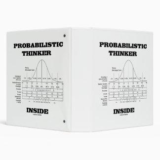 Probabilistic Thinker Inside Normal Distribution Binder