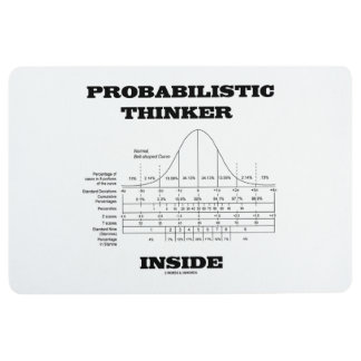 Probabilistic Thinker Inside Normal Distribution Floor Mat