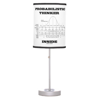 Probabilistic Thinker Inside Normal Distribution Table Lamp
