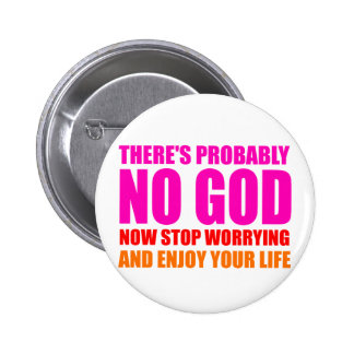 Probably No God 2 Inch Round Button