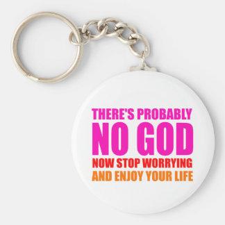 Probably No God Keychain