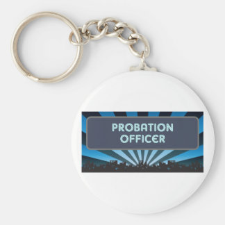 Probation Officer Marquee Keychain