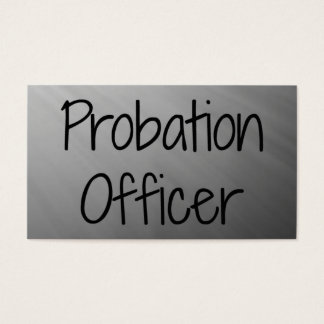 Probation Officer Silver Business Card