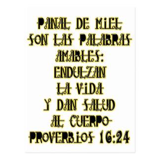 Proberbios 16:24 postcard