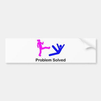 Problem Solved Bumper Sticker