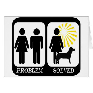 Problem solved dog owner lady card