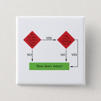 Problem solving 2 inch square button