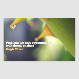 Problems as Opportunities Inspirational Rectangle