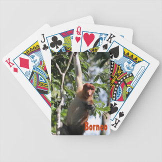 Proboscis Monkey in Borneo Rainforest Bicycle Playing Cards