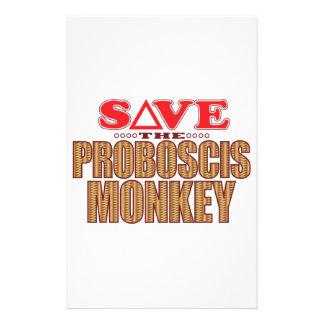 Proboscis Monkey Save Custom Stationery