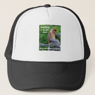Proboscis Monkey - Sometimes I Sit and Think Trucker Hat