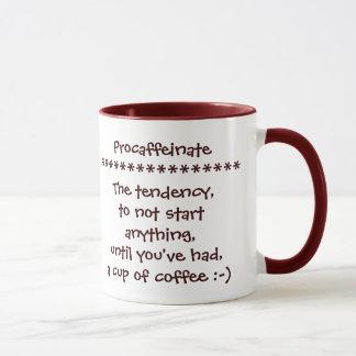 Procaffeinate Funny Coffee Mug for the Addicts :-)
