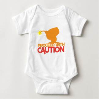 Proceed with CAUTION! bomb canon about to BLOW! Baby Bodysuit