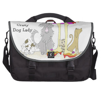 Proceeds to Animal Charity Crazy Dog Lady Commuter Bag