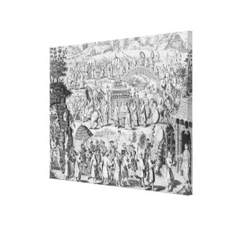 Procession of a bride going home canvas print