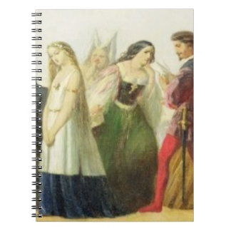 Procession of characters from Shakespeare (oil on Notebook