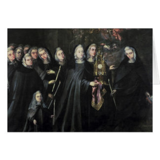 Procession of St. Clare with the Eucharist Card