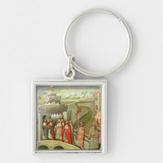 Procession of St. Gregory to the Castel St. Angelo Keychain