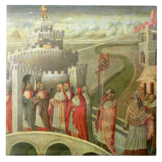 Procession of St. Gregory to the Castel St. Angelo Tile