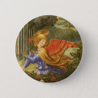 Procession of the Magi, Renaissance Angel Art 2 Inch Round Button