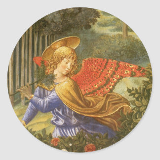 Procession of the Magi, Renaissance Angel Art Round Sticker