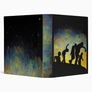 Procession Zombie Silhouette Binder dark art