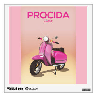 Procida Italy scooter vacation poster Wall Decal