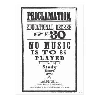 Proclamation 30 postcard