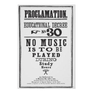 Proclamation 30 print