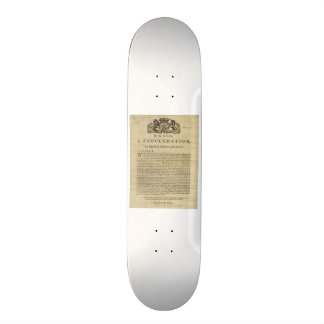 Proclamation by the King for Suppressing Rebellion Skate Decks