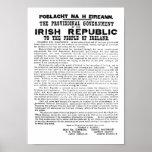 Proclamation irlandaise de 1916 poster