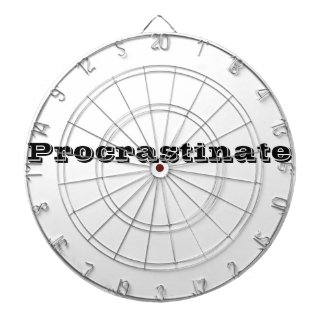 Procrastination Captions CUSTOMIZE Dartboard
