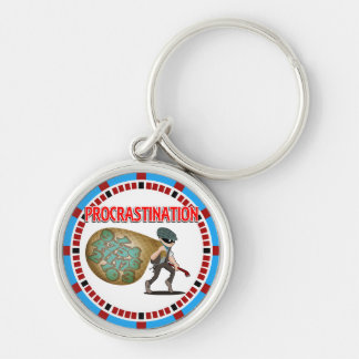 Procrastination is the Thief of Time Keychain