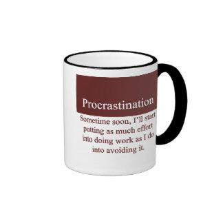 Procrastination Coffee Mugs