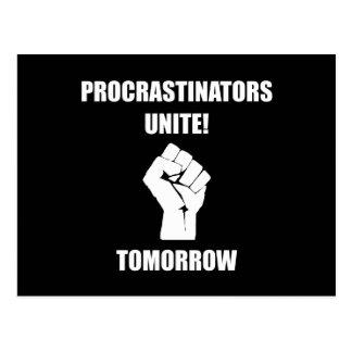 Procrastinators Unite Postcard