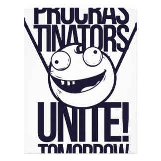 procrastinators unite tomorrow letterhead